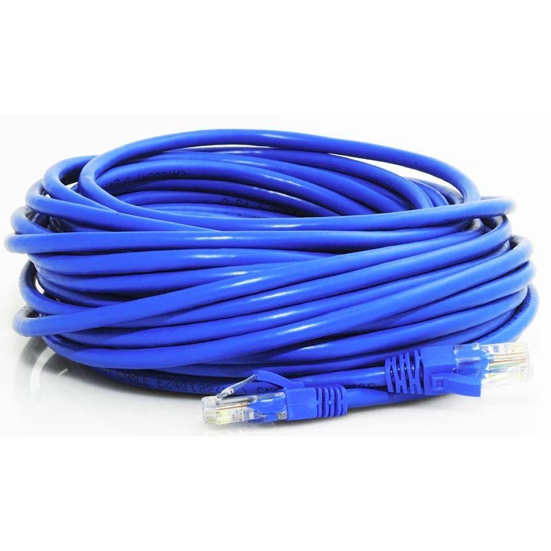 200' Cat 6, Pure Cooper, 550MHz, with connectors, blue